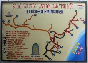 vinh moc tunnel - phong nha cave tours - map